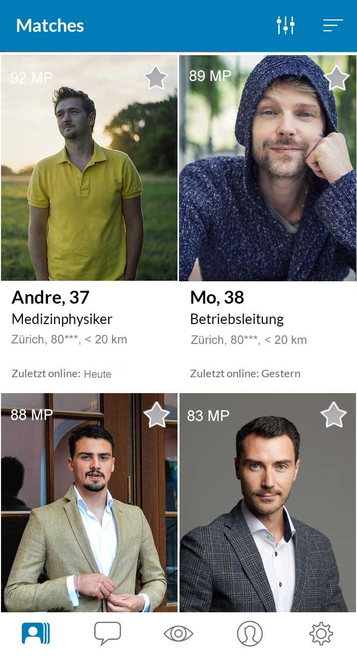 Elitepartner App Matches in Zürich