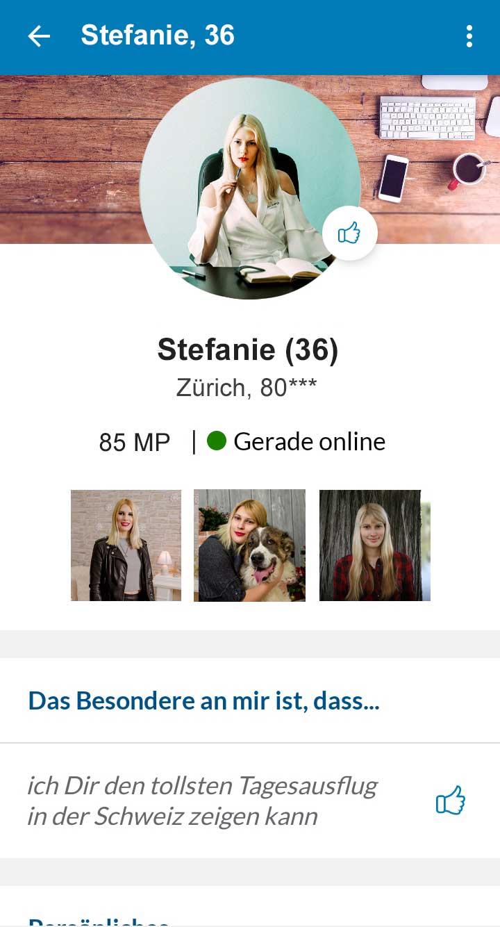 Elitepartner App Profil Zürich