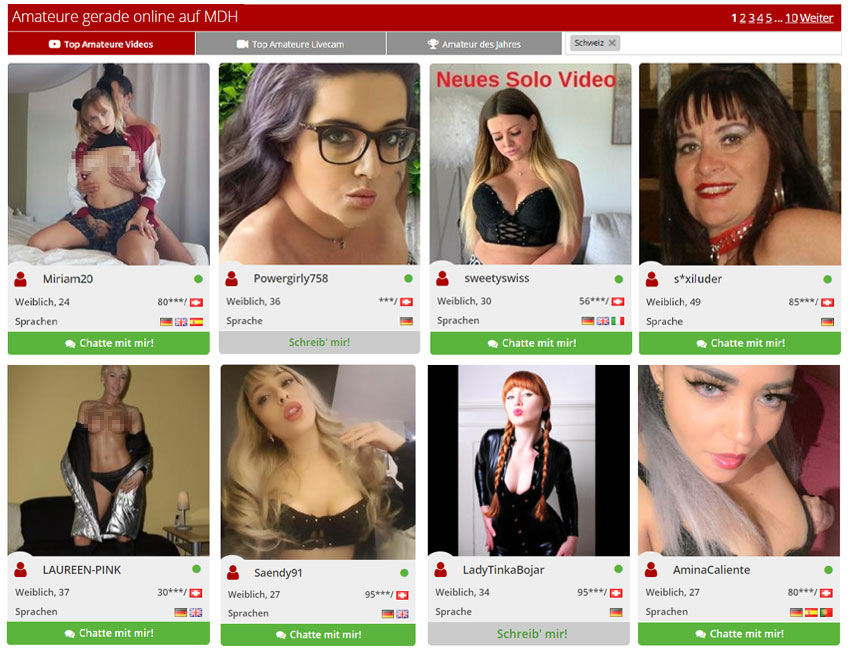 Schweizer Amateurinnen online
