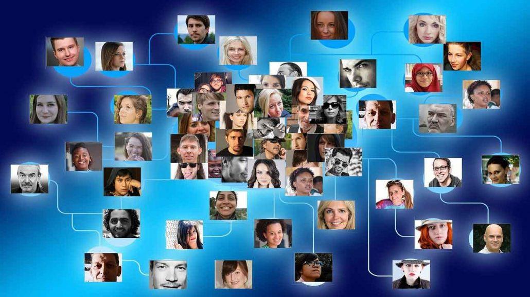 Netzwerk mit Kontakten
