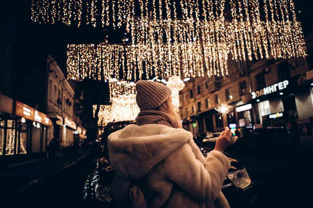 Frau allein an Weihnachten